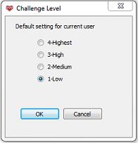 Challenge Level default